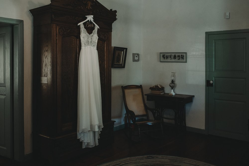 Wedding Dress at Rustic Wedding