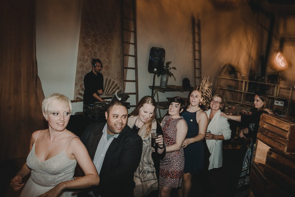 wedding party dance train