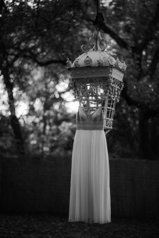 BHLDN Wedding Dress in black and white