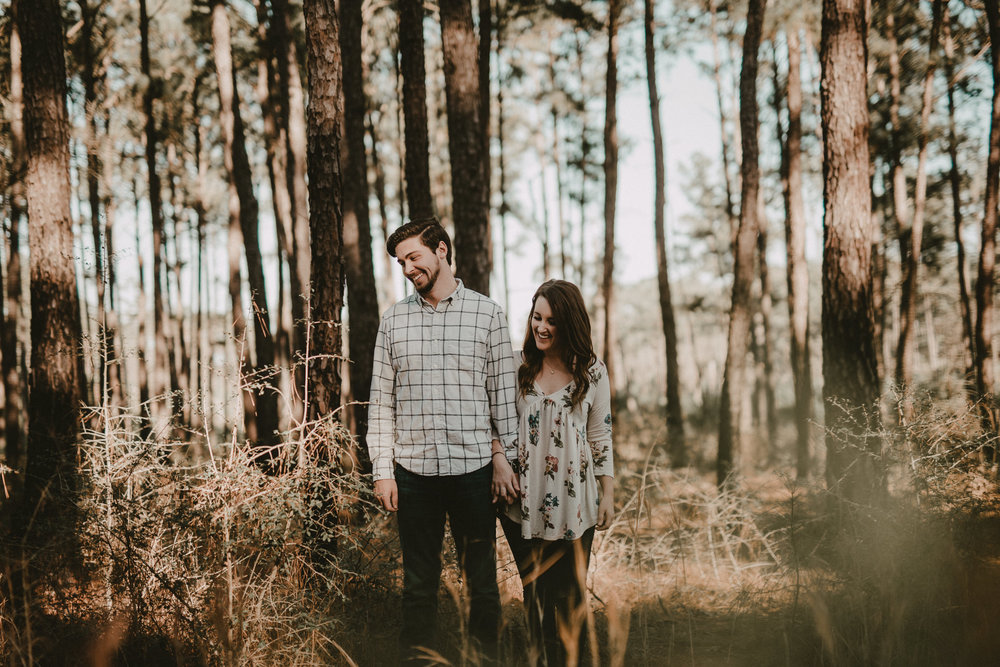 Engagement photos at Bastrop State Park
