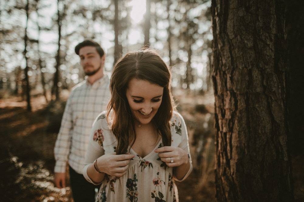 Engagement photography in Bastrop State Park