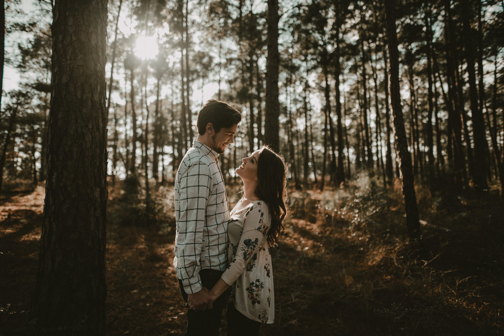 Engagement session at Bastrop State Park