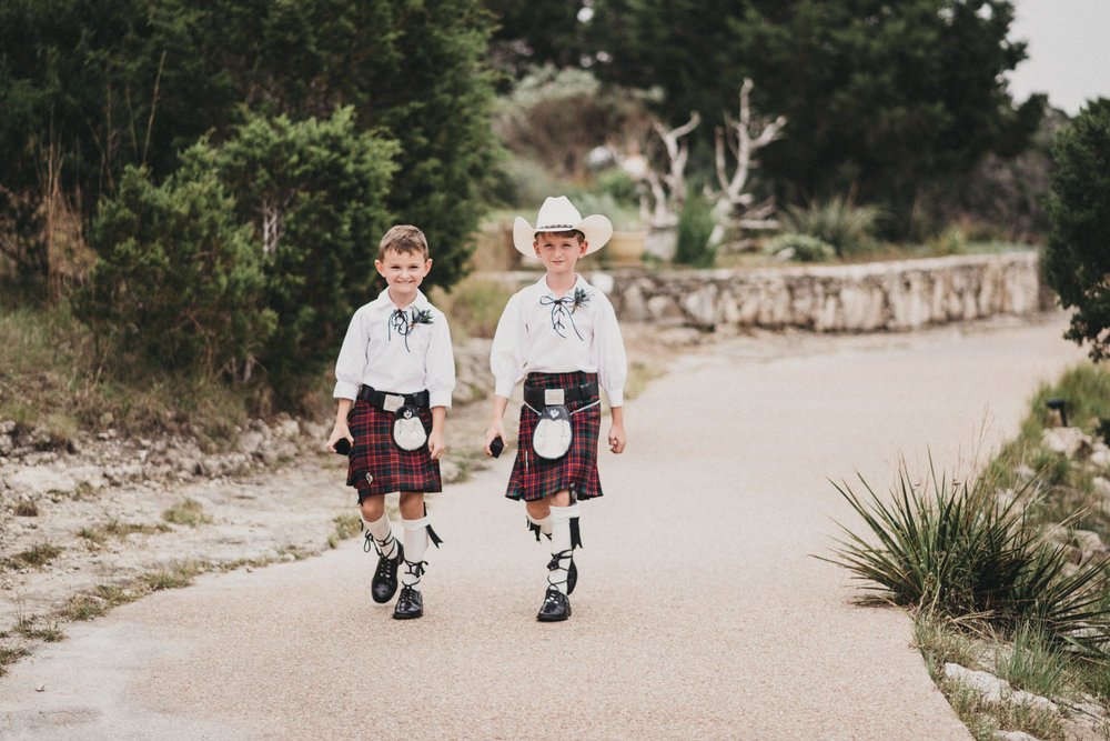 Ring Bearers in Kilts