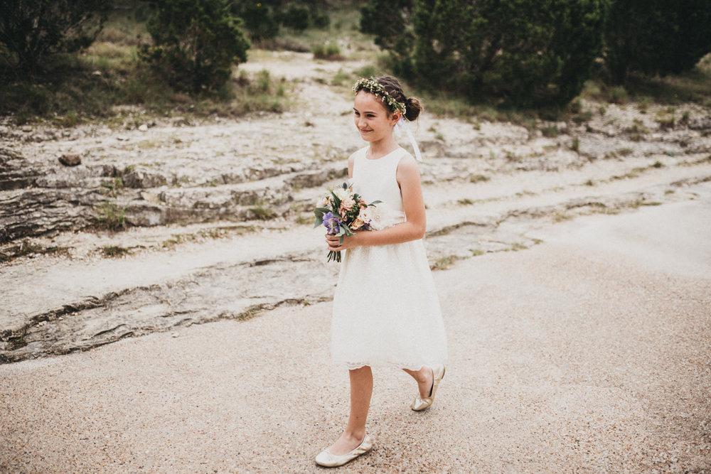 Flower girl at Austin's Chapel Dulcinea