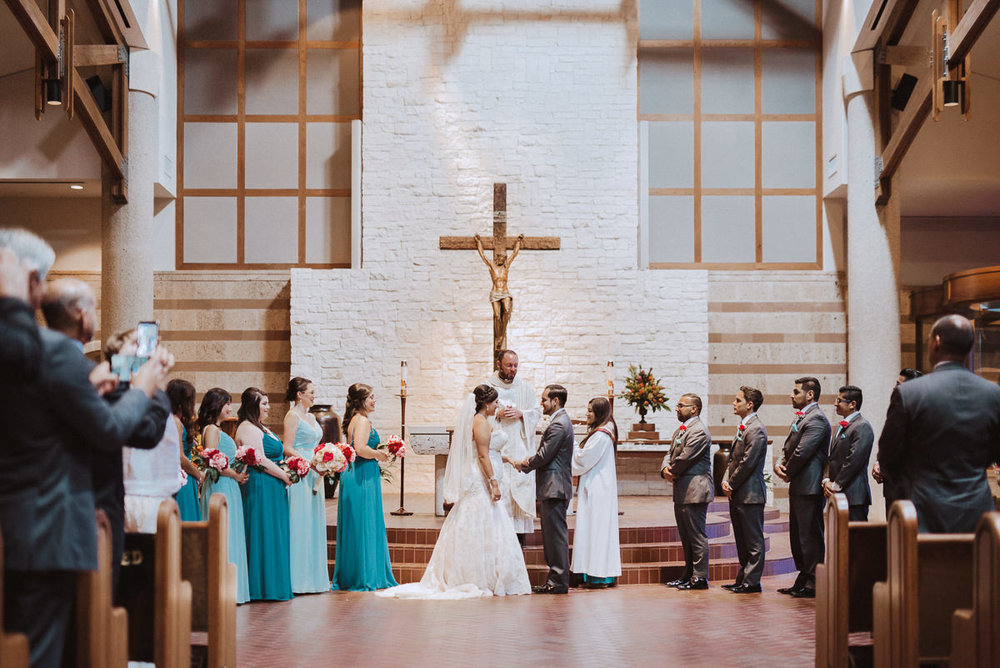 St Helen Catholic Church Wedding in Houston