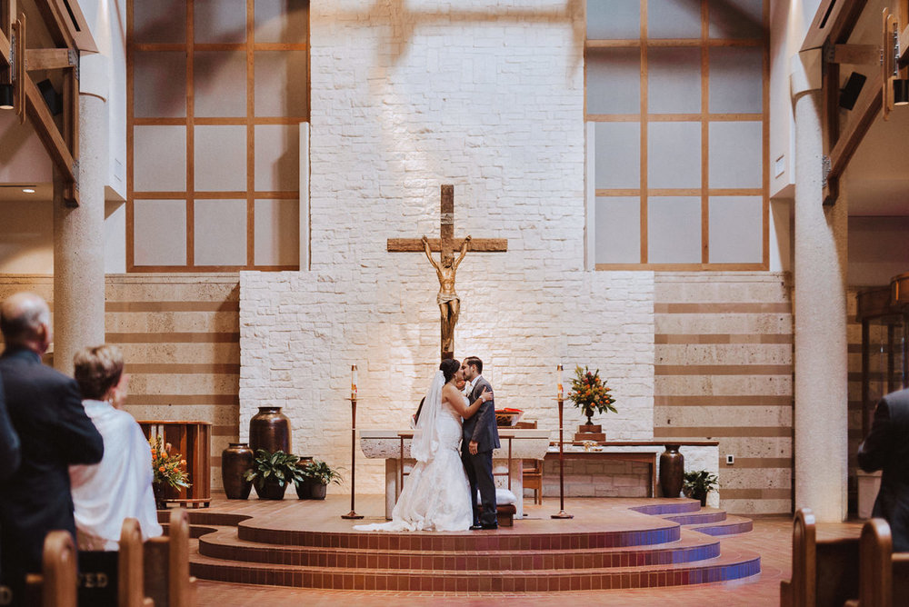 St Helen Catholic Wedding Kiss