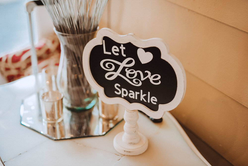 wedding sparklers sign