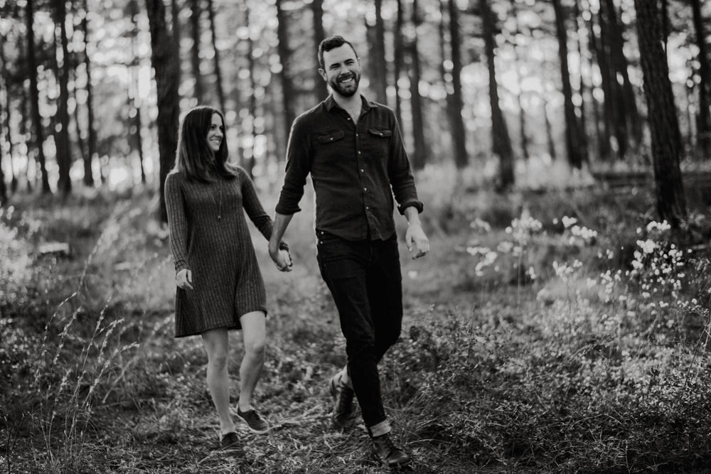 Black and White Engagement Photos