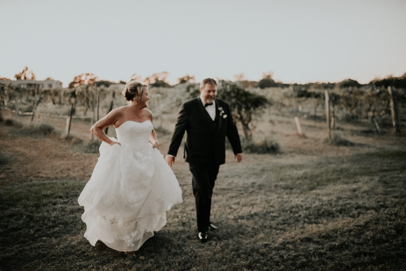 Texas Vineyard Wedding Married Couple
