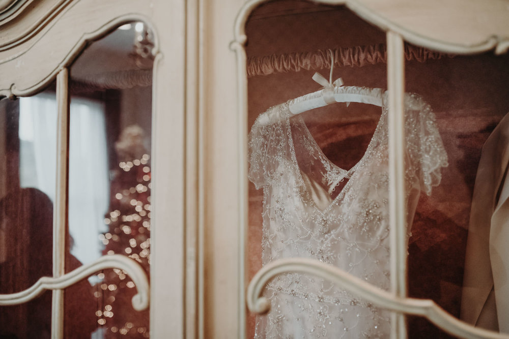 christmas wedding dress photo