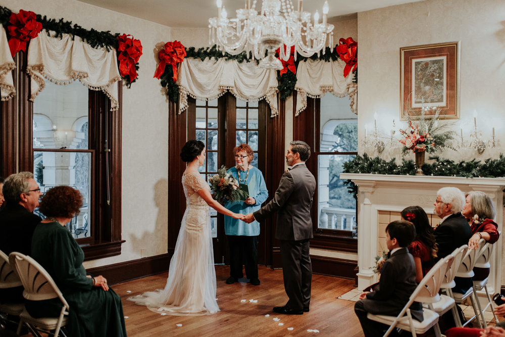 christmas wedding in austin texas victorian home