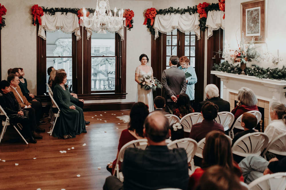 caswell house christmas wedding in austin