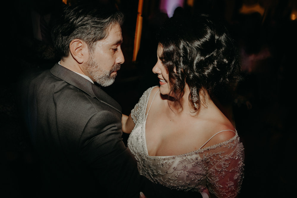 bride and groom dance on their wedding day