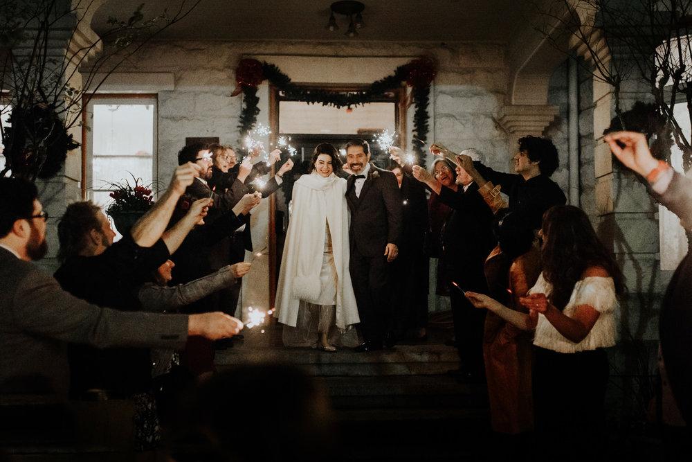 wedding sparkler exit in austin texas