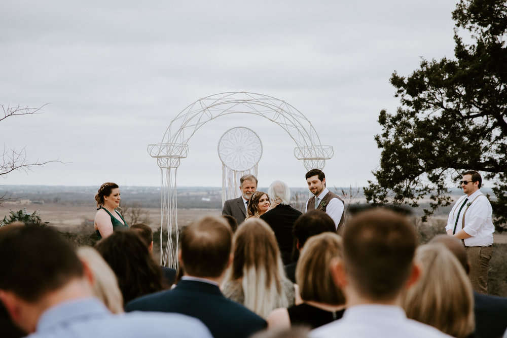 Wedding ceremony in Manor Texas