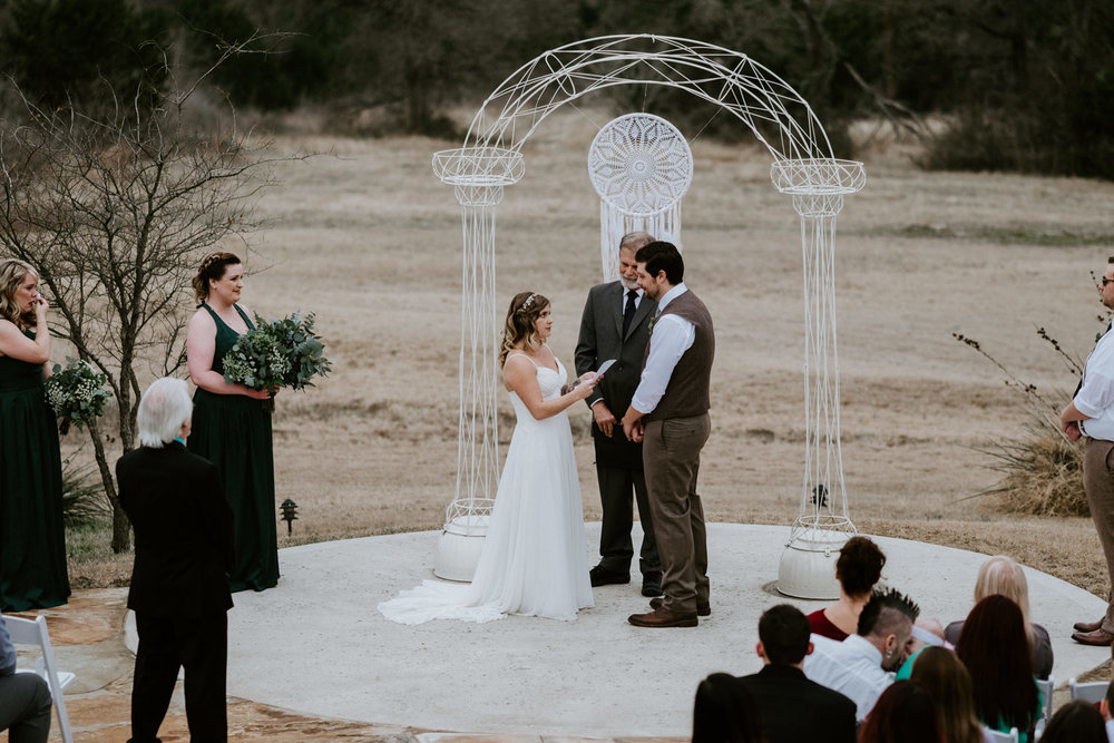 Wedding ceremony with dreamcatcher