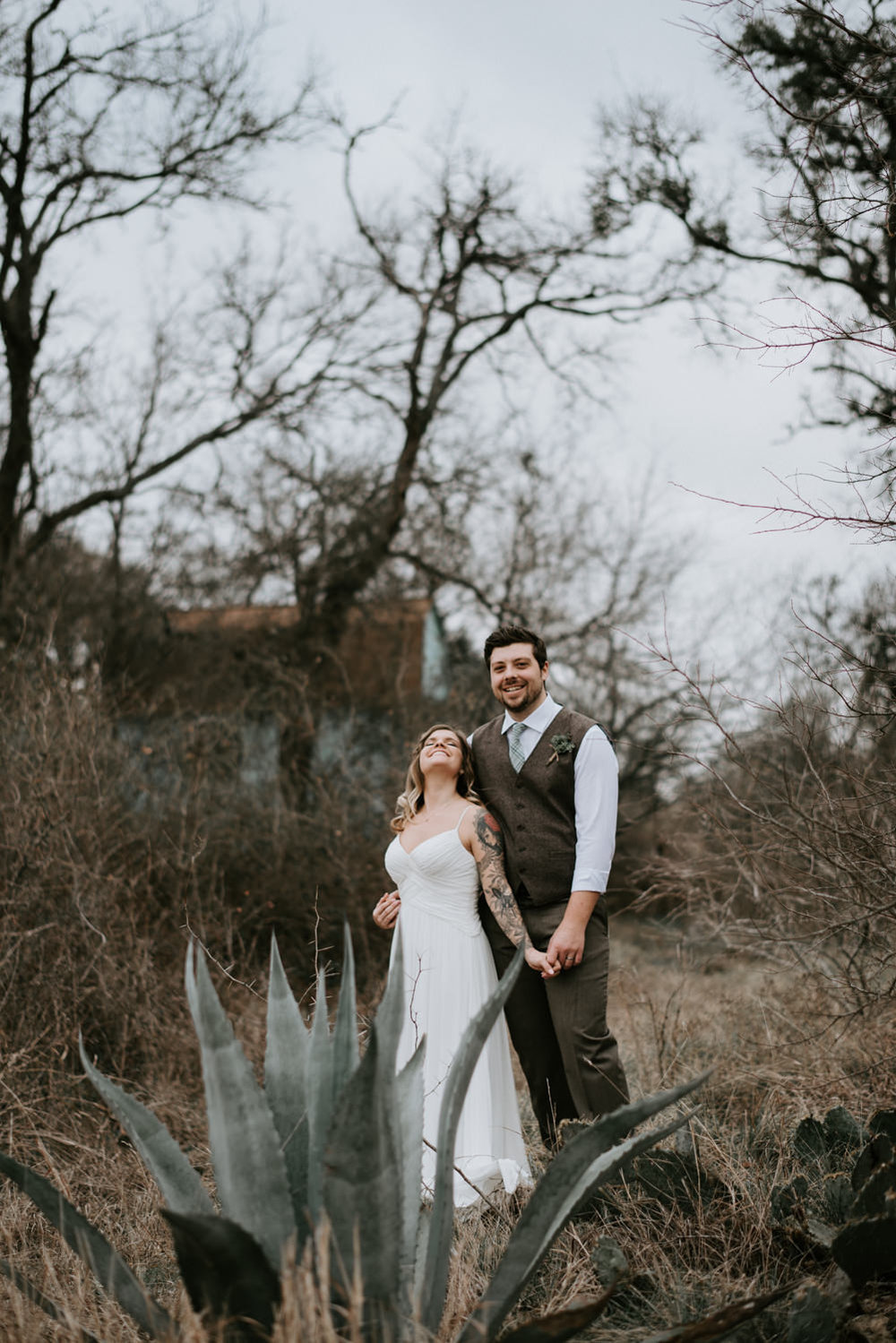 happy bride and groom portraits
