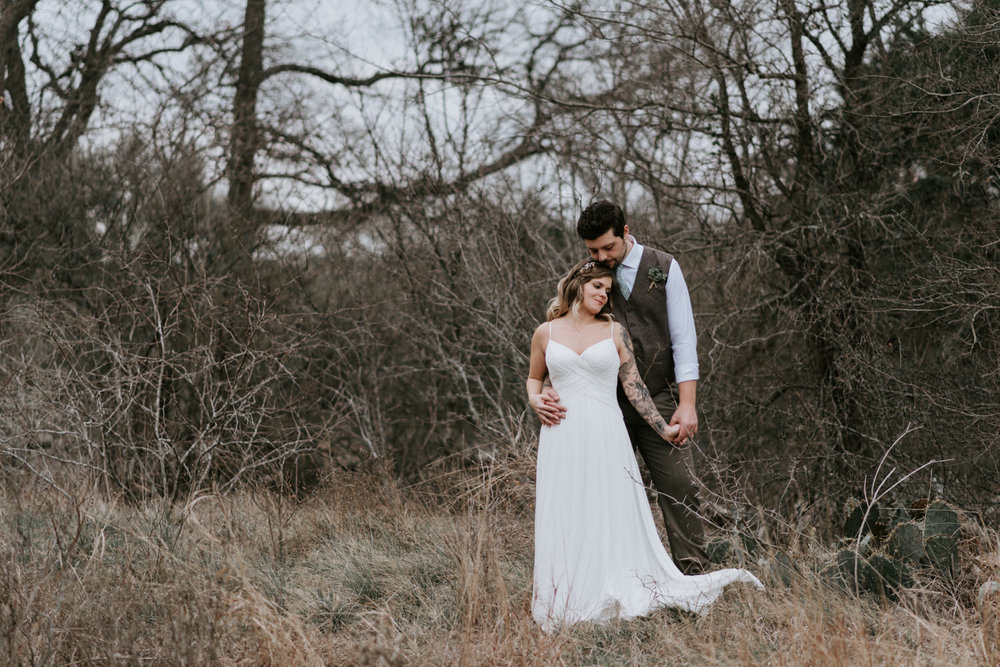 moody wedding photos in austin texas