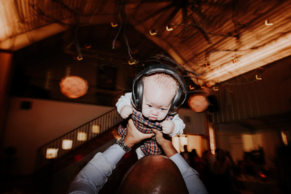 baby dancing at wedding in austin