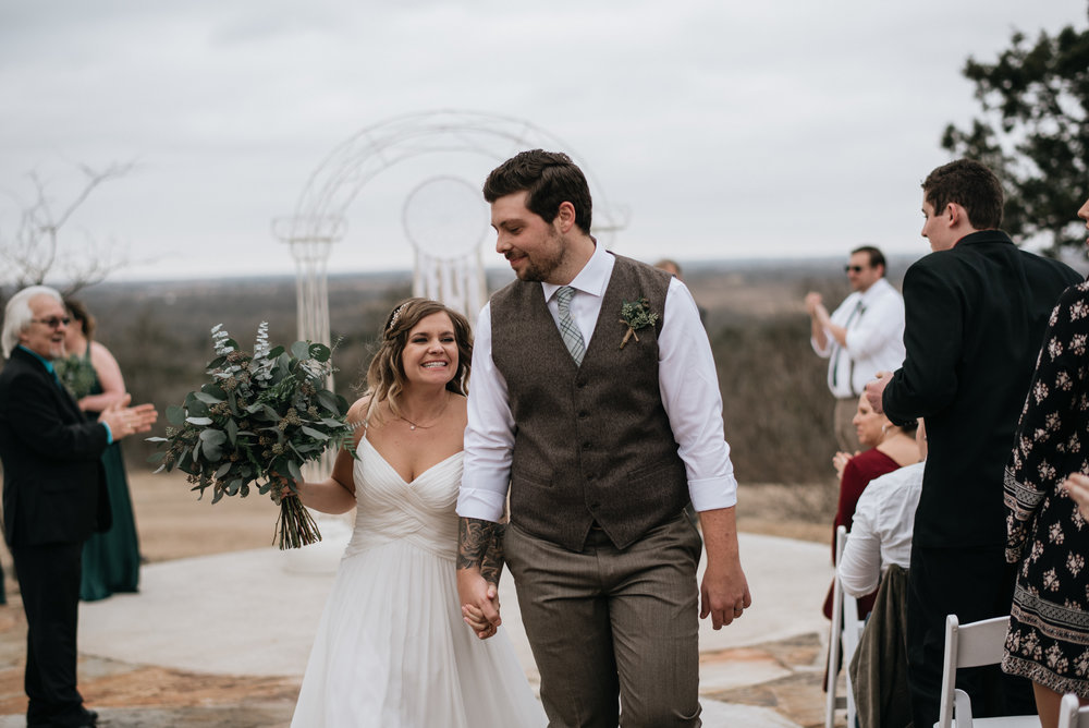 Bride and Groom at Austin Texas Wedding