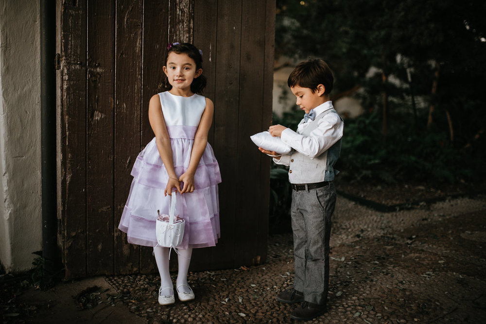 flower girl and ring bearer at san antonio wedding