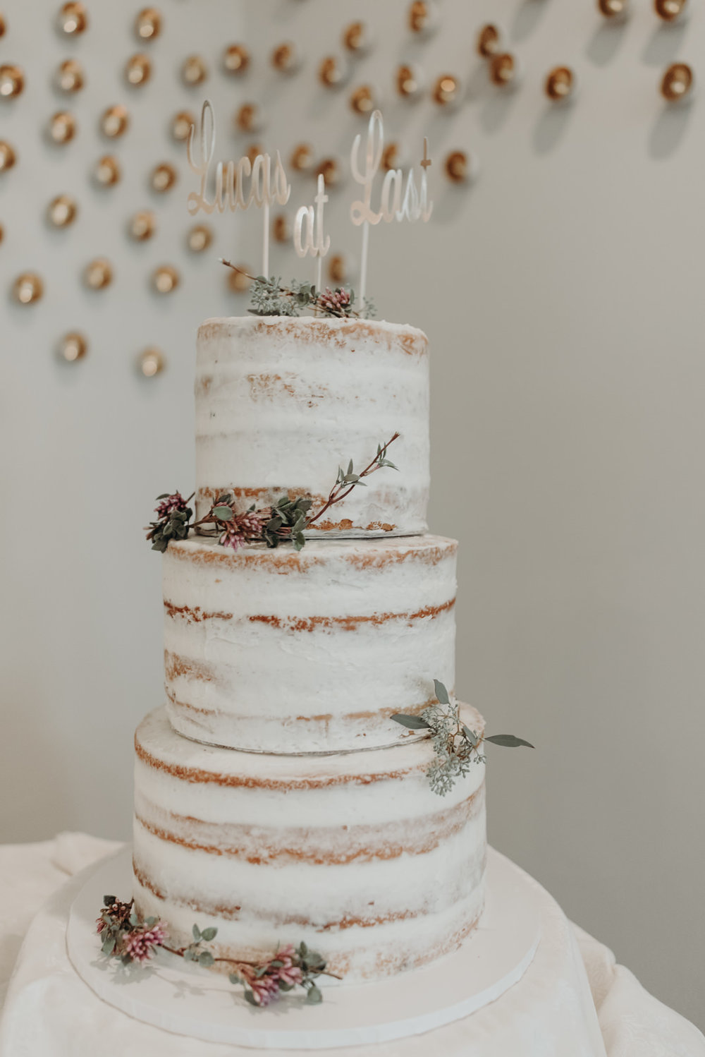 five times the charm wedding cake
