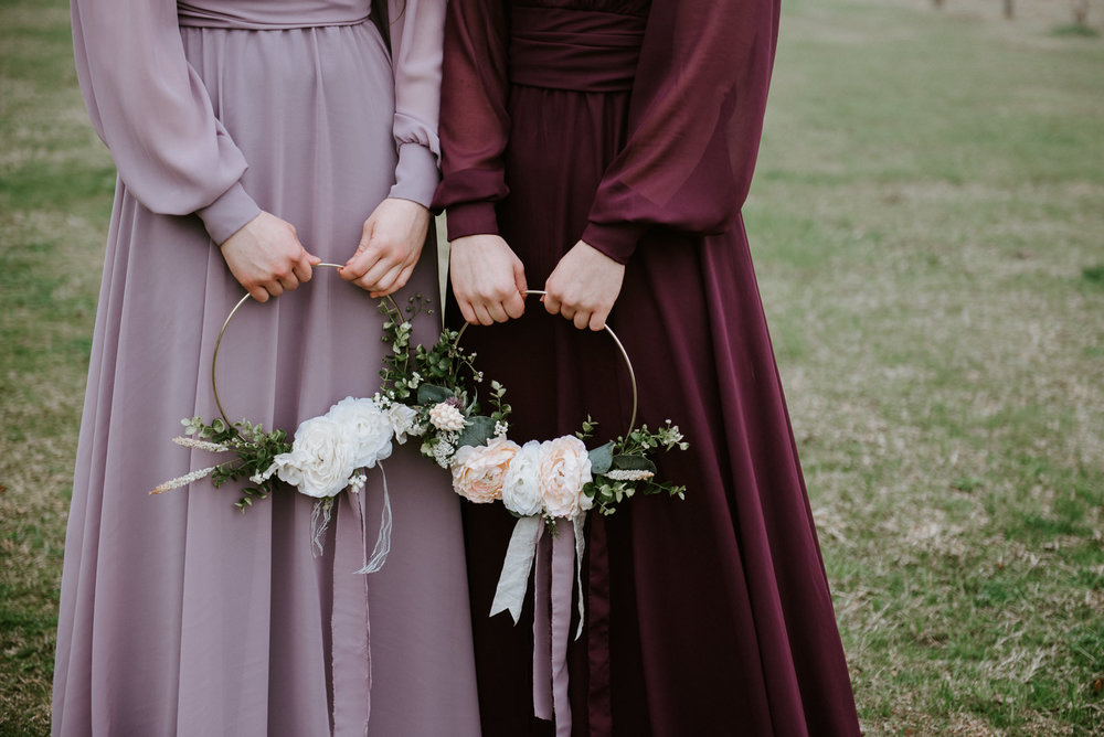 bridesmaids at texas wedding
