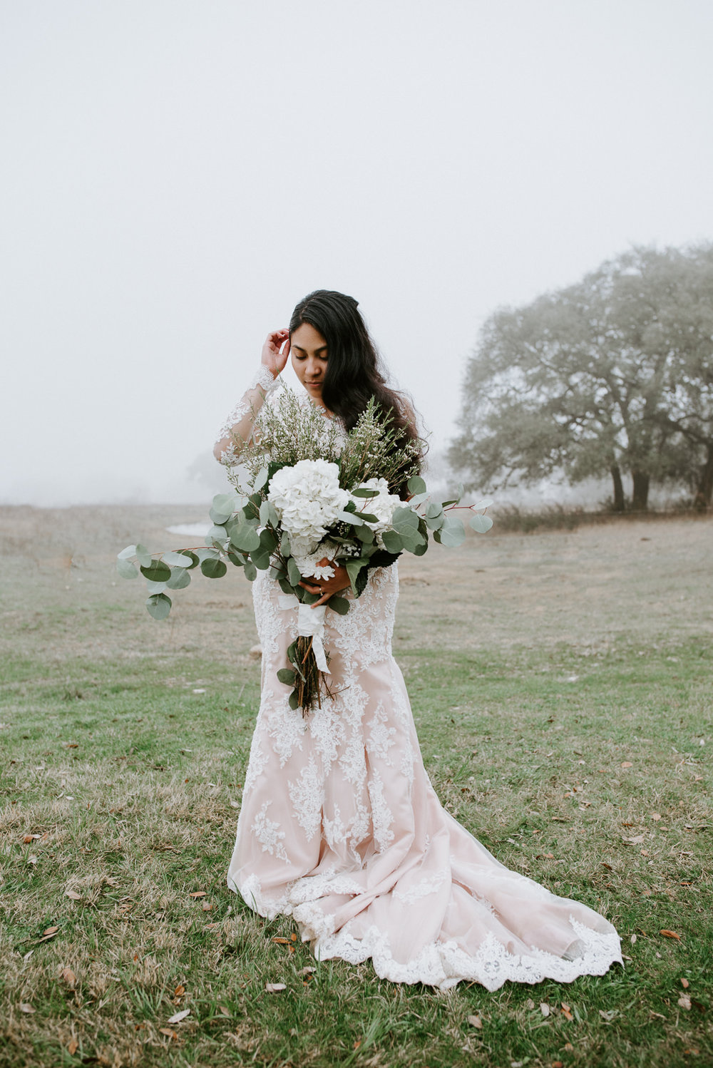 bridal portraits at austin texas wedding