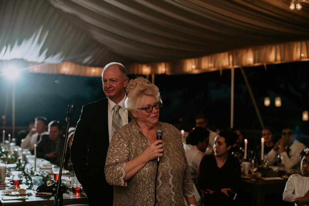 mother of groom gives speech at austin texas wedding