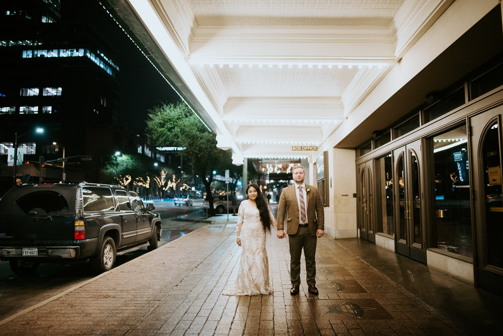 wedding portraits in downtown austin texas