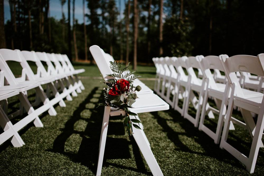 The Springs at The Woodlands wedding chairs and flowers