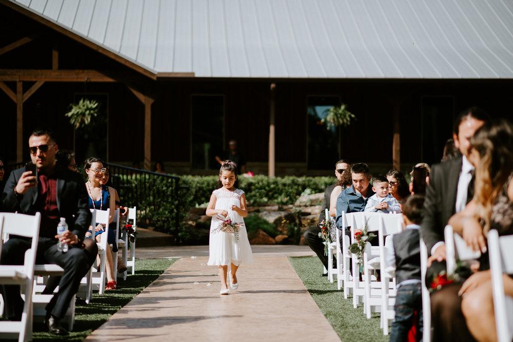 Flower girl at houston wedding