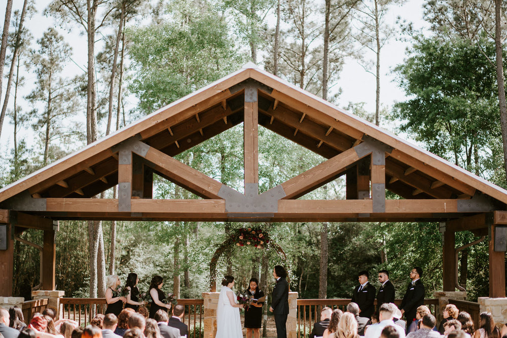 wedding ceremony at The Springs at The Woodlands