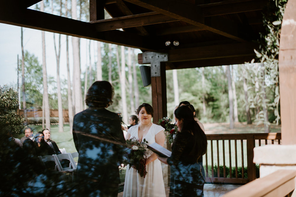 Wedding ceremony at The Springs in Houston Texas