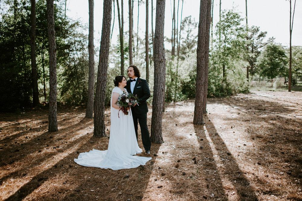 bride and groom wedding portraits at houston wedding