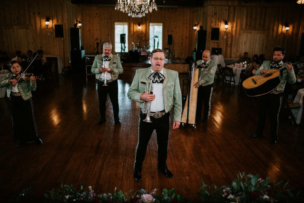 mariachi sings at texas wedding reception