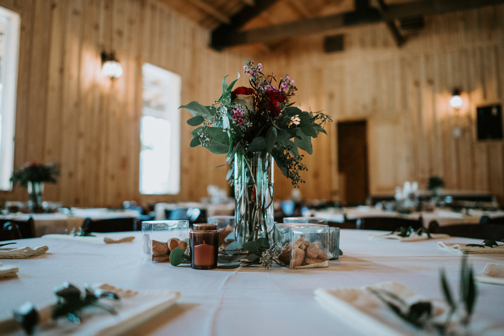 The Springs event venue wedding table setting