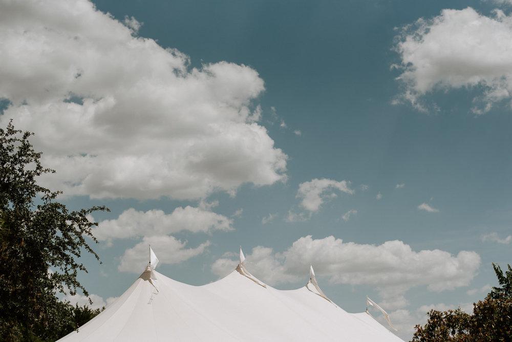wedding tent at driftwood texas wedding
