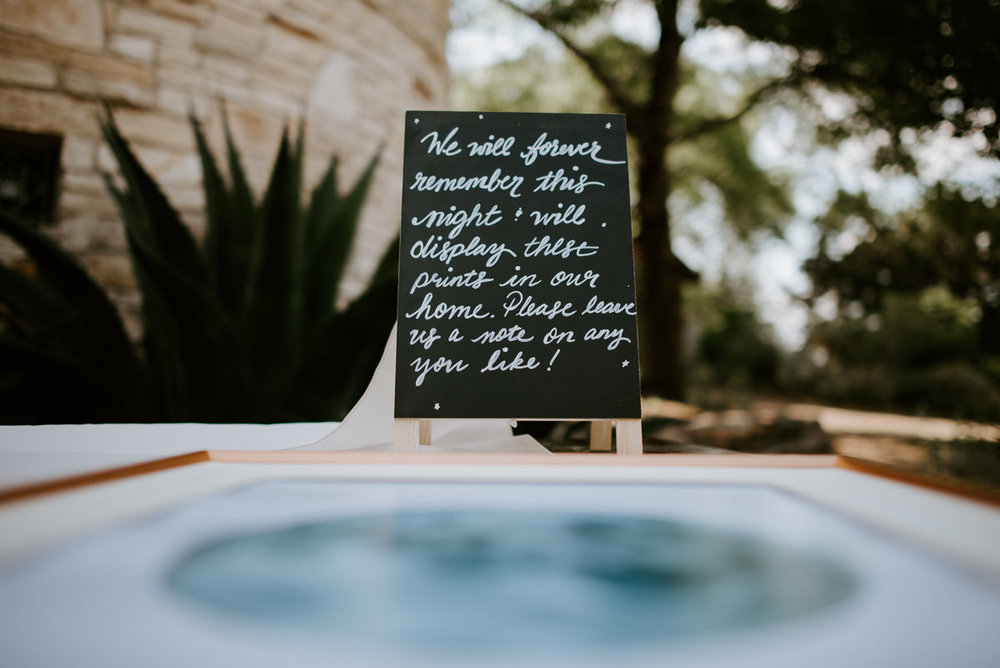 wedding chalk sign