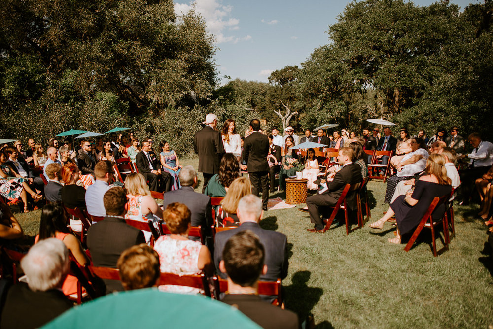 circle wedding ceremony in the texas hill country