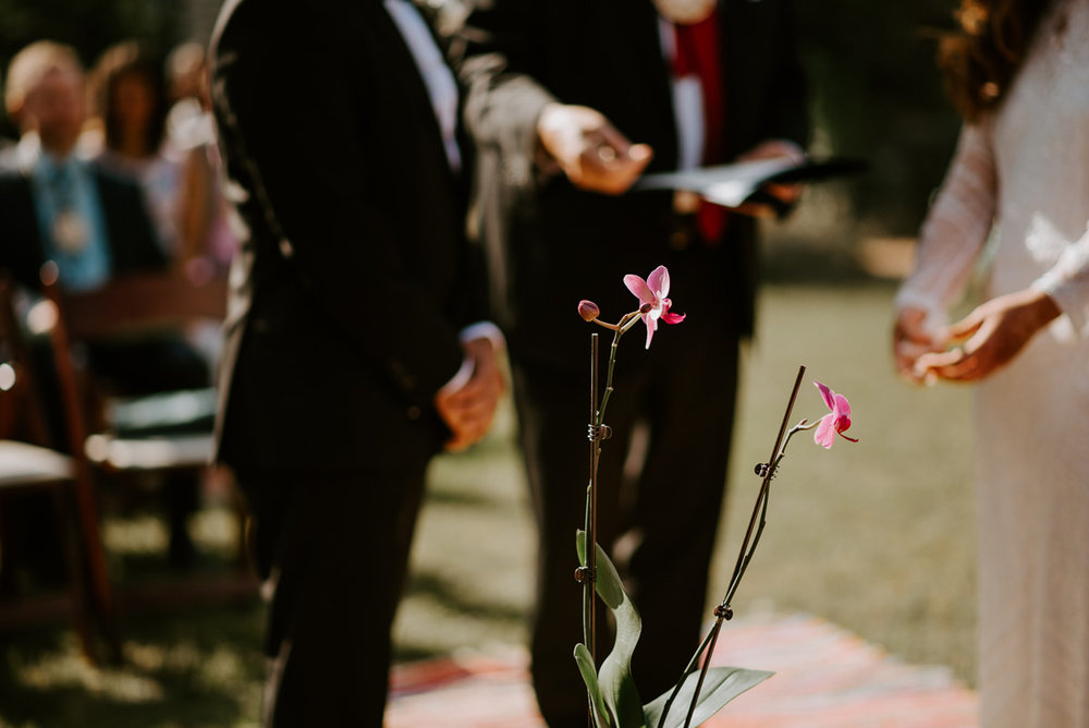 orchid wedding ceremony