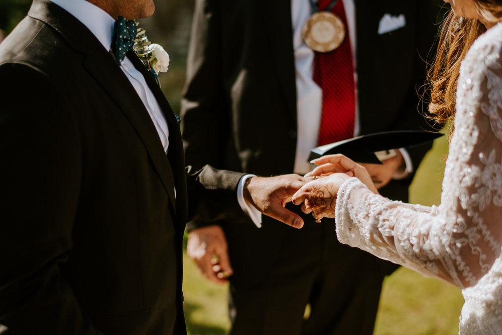 ring exchange during austin texas wedding