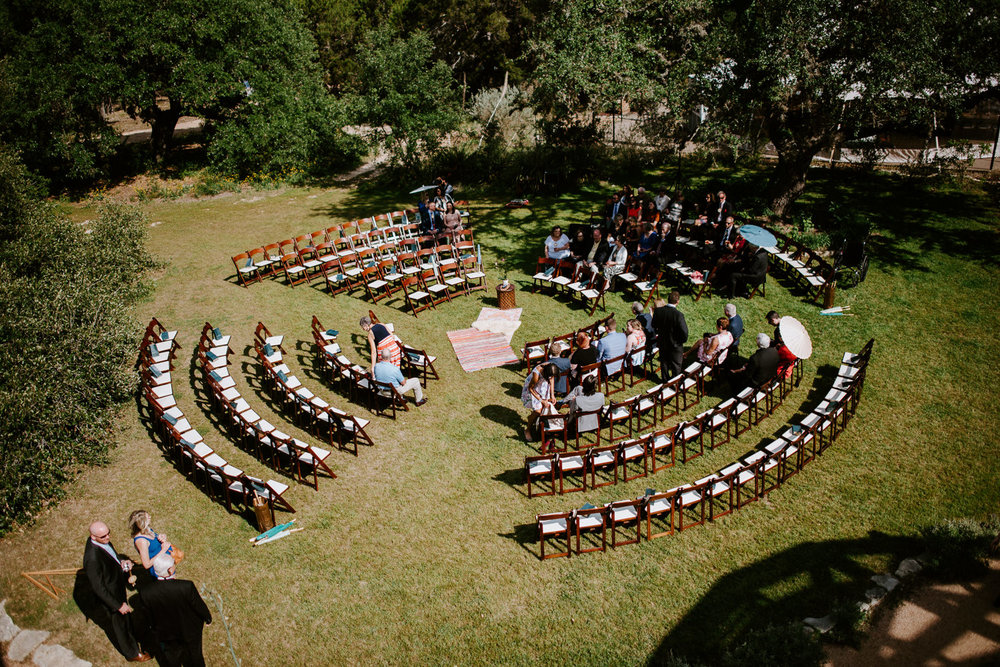 circle wedding ceremony at the greenhouse at driftwood