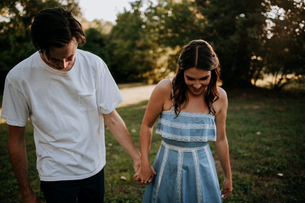 fun engagement photo in San Marcos
