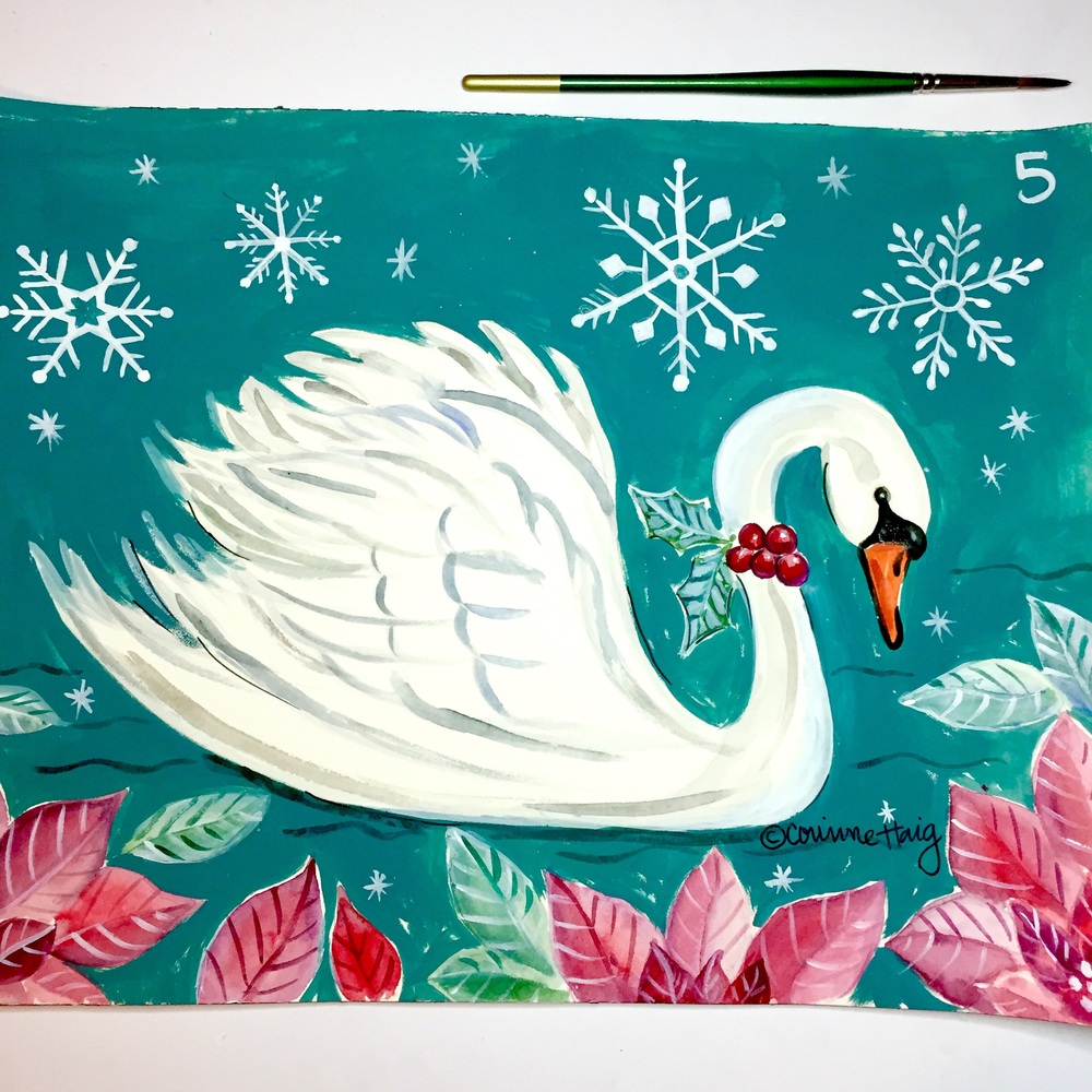 Snowflake Swan by Corinne Haig