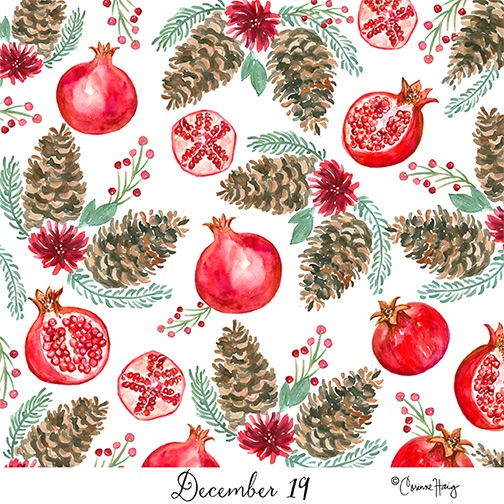 Pomegranate Pine Pattern
