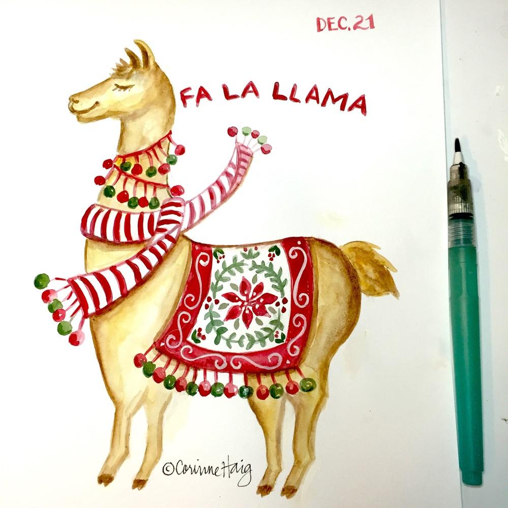Fa La Llama by Corinne Haig