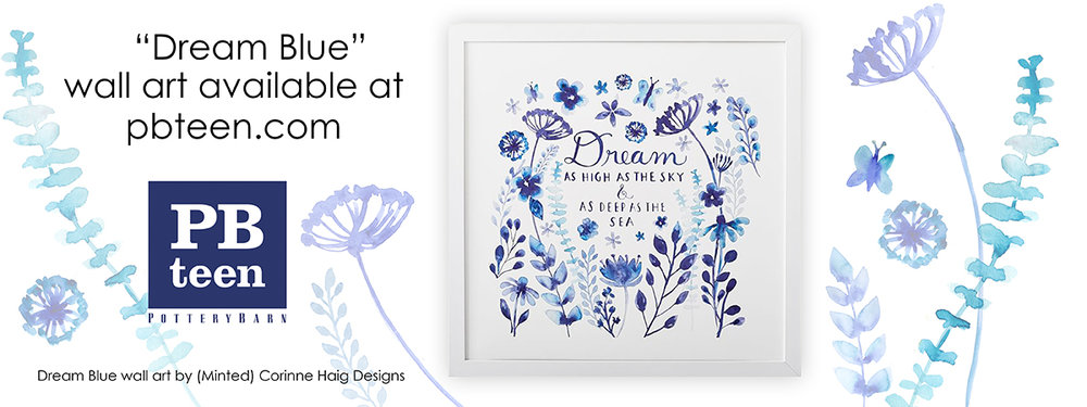 Dream Blue by Corinne Haig for Pottery Barn Teen
