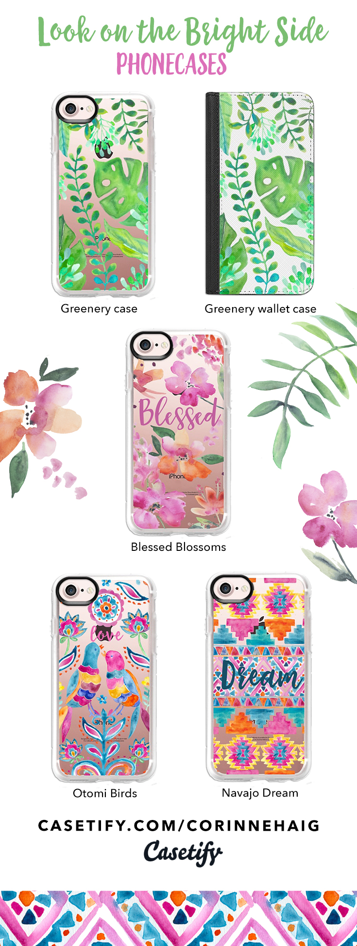 Phone cases by Corinne Haig