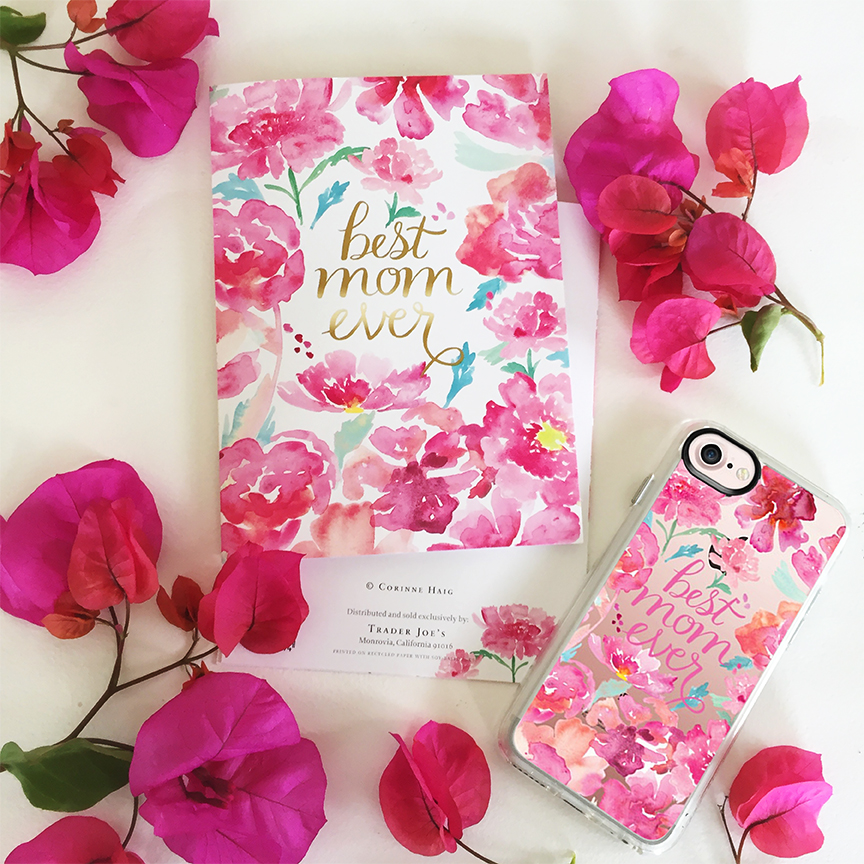 Best Mom Ever greeting card for Trader Joe's. Best Mom Ever phone case for Casetify.